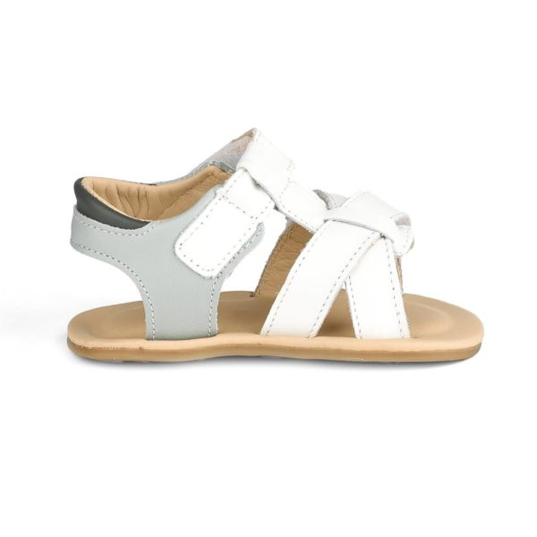 Sandale Baietei Bibi Afeto Albe/Gri