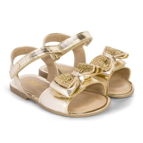 Sandale Fete Miss Bibi Aurii Cu Funda