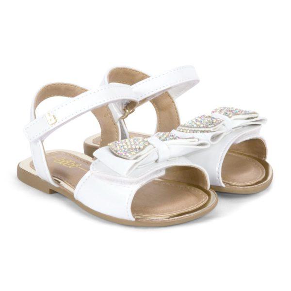 Sandale Fete Miss Bibi Albe Cu Funda