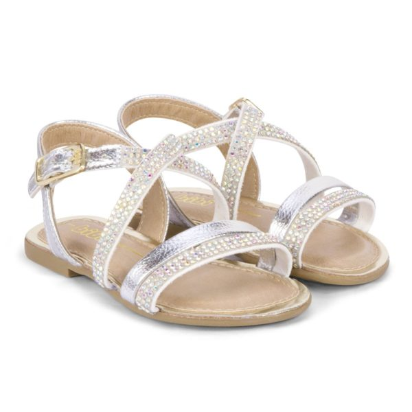 Sandale Fete Miss Bibi Argintii