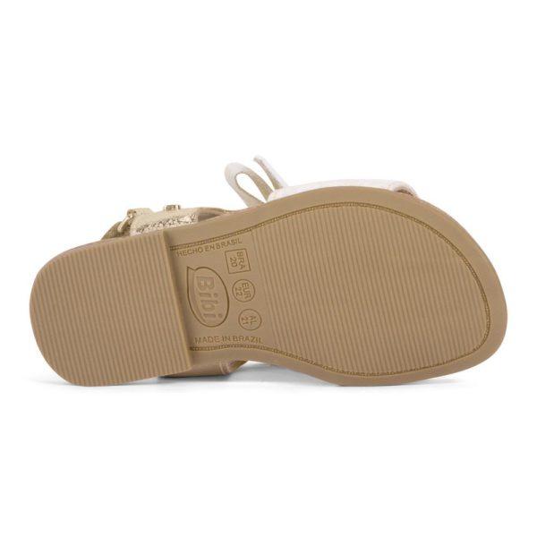 Sandale Fete Miss Bibi Aurii/Nude