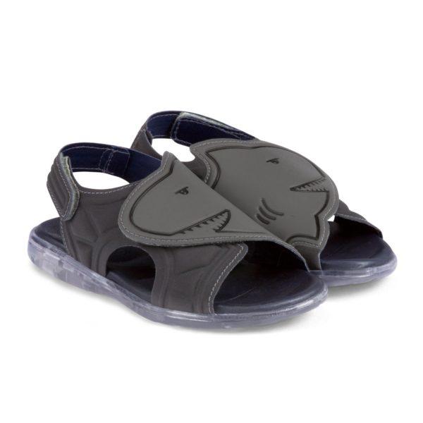 Sandale Baieti Bibi Funny Light Gri-Rechin