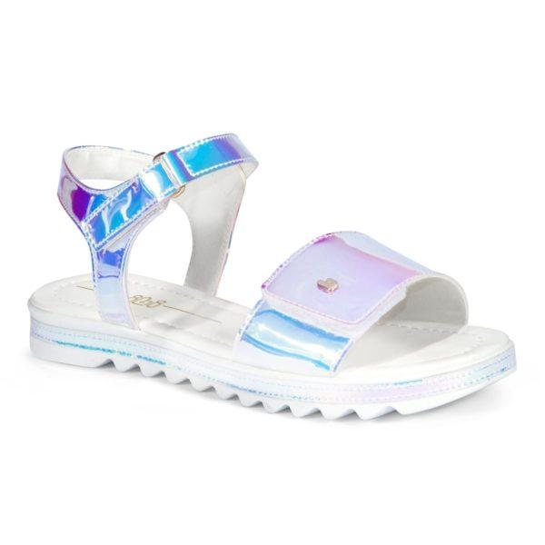 Sandale Fete Bibi Flat Form Holografic