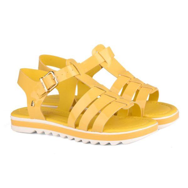 Sandale Fete Bibi Flat Form Galbene