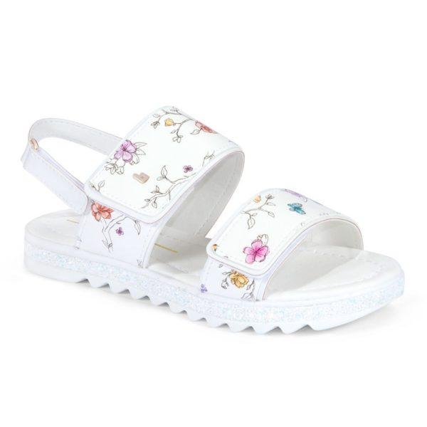 Sandale Fete Bibi Flat Form Albe-Floral