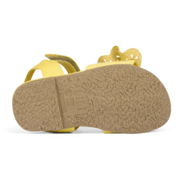 Sandale Fete Bibi Baby Birk Galbene Cu Funda