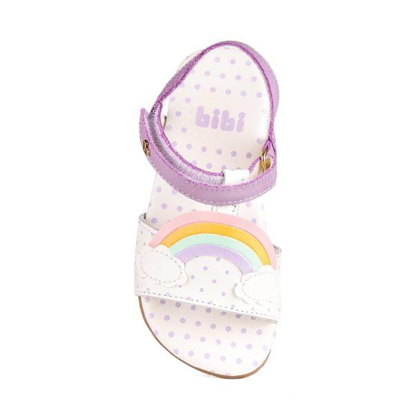 Sandale Fete Bibi Baby Birk Mov-Curcubeu