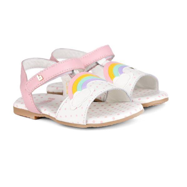 Sandale Fete Bibi Baby Birk Roz-Curcubeu