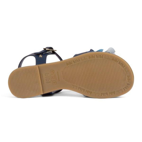 Sandale Fete Bibi Fresh Naval Cu Volane Colorate