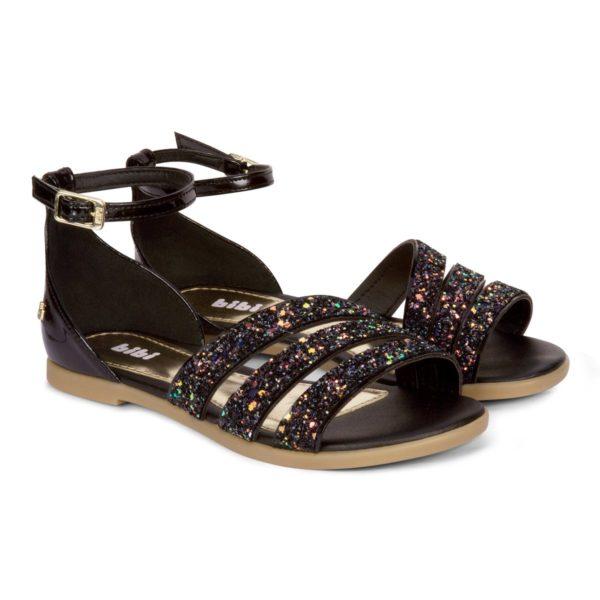 Sandale Fete Bibi Party Negre-Glitter