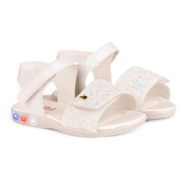 Sandale Fete Bibi Star Light Albe-Glitter