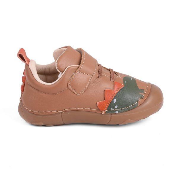 Pantofi Baieti BIBI Grow Maro Dinozaur