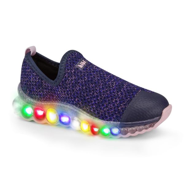 Pantofi Sport Led BIBI Roller Celebration Navy Lurex