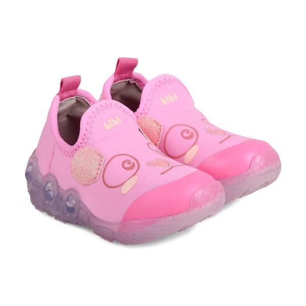 Pantofi Fete BIBI Space Wave Panda Roz