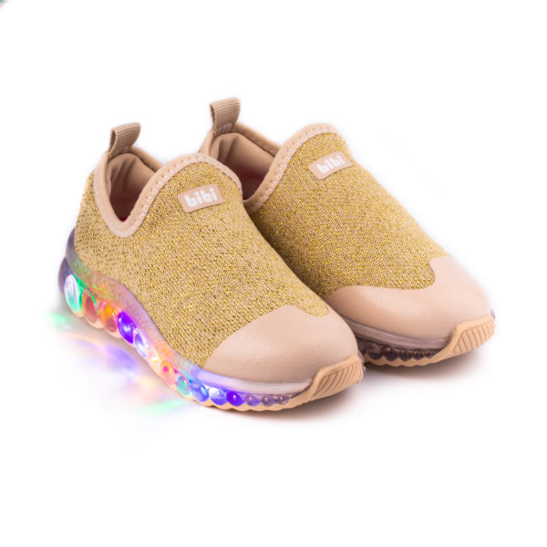 Pantofi Sport LED Bibi Roller Celebration Lurex/Gold