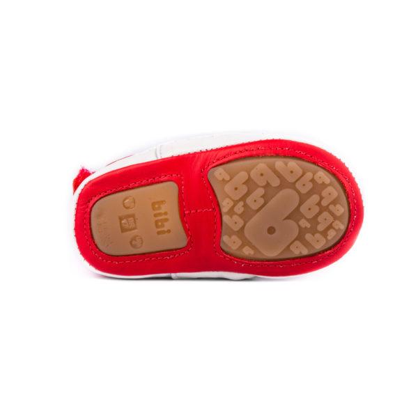 Pantofi Baietei Bibi Afeto V Rosii/Albi