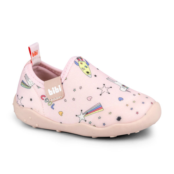 Pantofi Fete Bibi FisioFlex 4.0 Happy Place Camelia Lycra