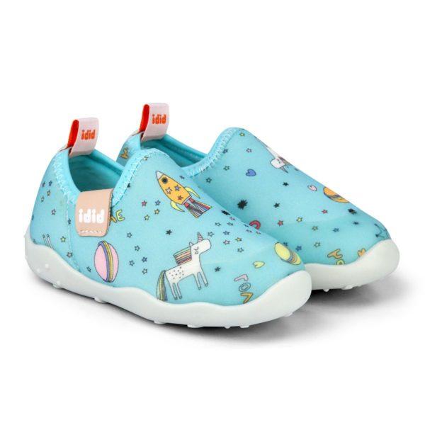 Pantofi Fete Bibi FisioFlex 4.0 Happy Place Ice Lycra