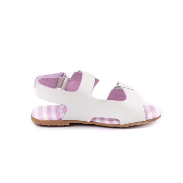 Sandale Fete Bibi Baby Birk Mini Albe