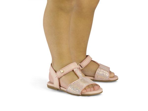 Sandale Fete Bibi Baby Birk Mini Camelia Glow