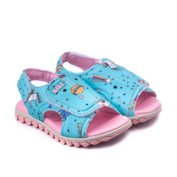 Sandale Baieti Summer Roller New II Jeans Cu Velcro